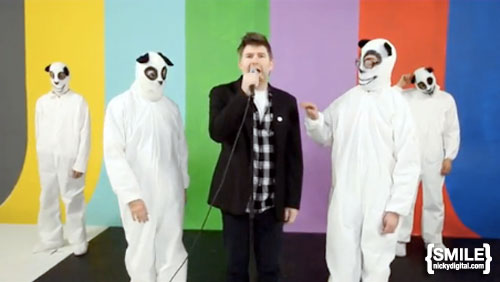 "James Murphy in LCD Soundsystem's video for ""Drunk Girls"""