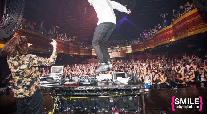 Zeds Dead Thanksgiving Eve event at Webster Hall on November 26, 2014