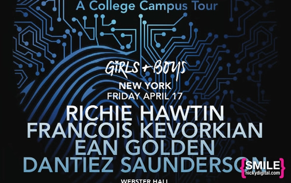 TONIGHT: Girls & Boys presents CNTRL with Richie Hawtin, François K, Ean Golden, Dantiez Saunderson and more at Webster Hall on April 17, 2015! RSVP for Guest List!