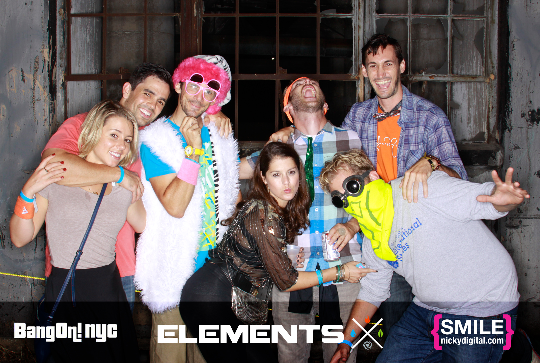 BangOn!NYC's Elements Music & Arts Festival Photo Booth on September 21, 2013